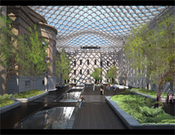 Smithsonian's Norman Foster Designed Courtyard