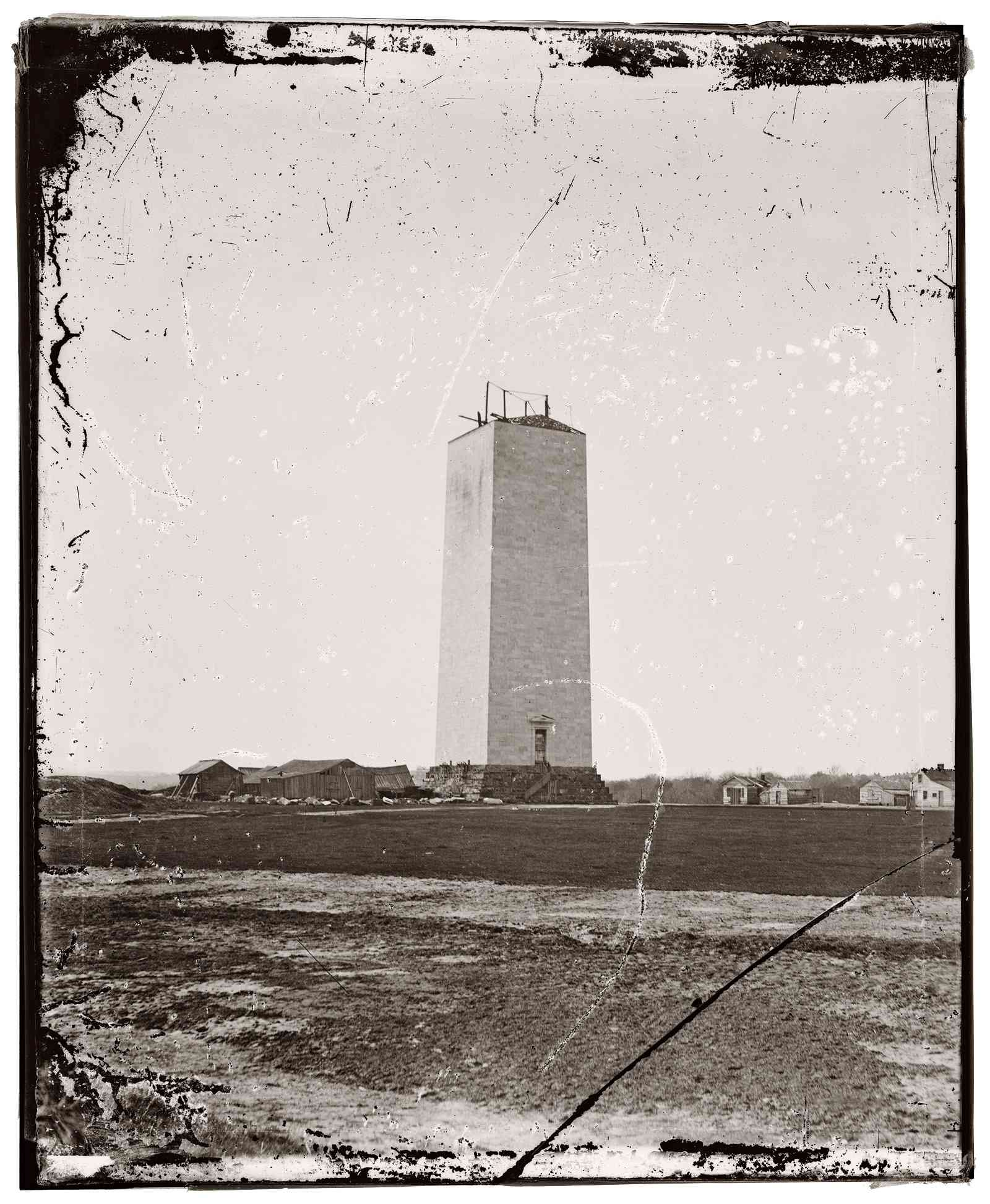 Washington Monument in 1860