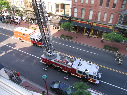 Gallery Place Fire Truck View