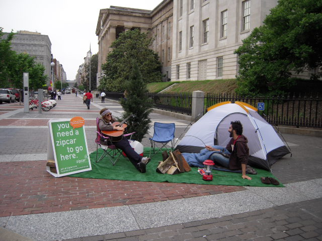 ZipCar's F Street Campground