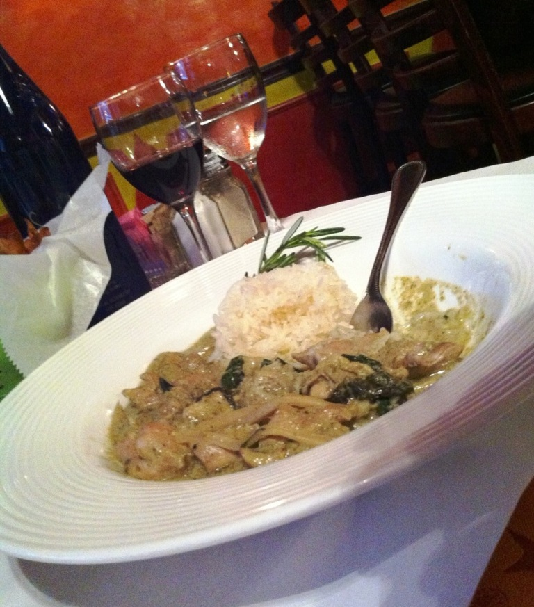 Green Curry Chicken and Frites?