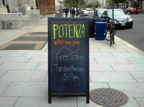 potenza wine sign 15th st
