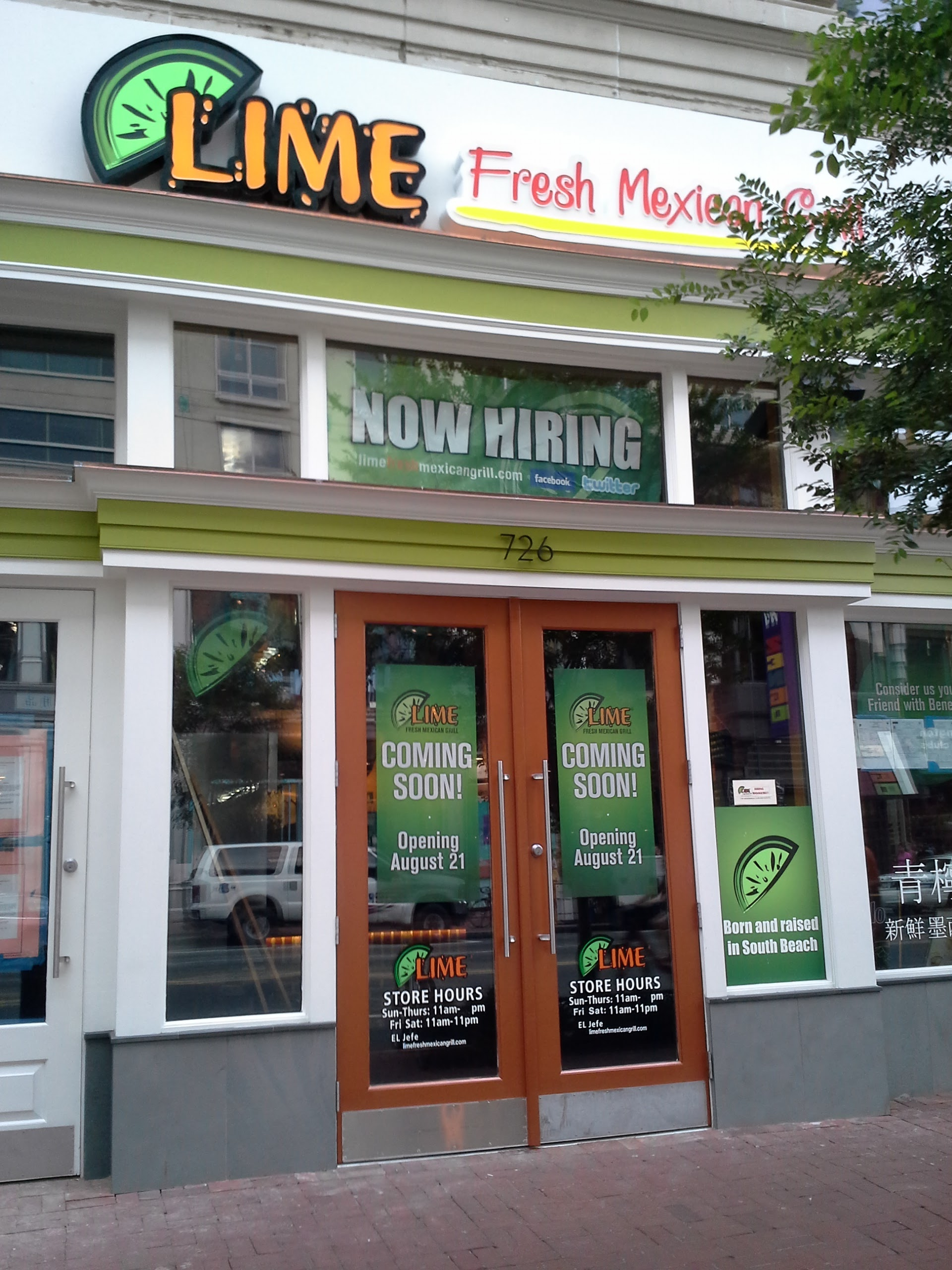 Lime Fresh Mexican Grill 726 7th St NW Washington DC - Exterior