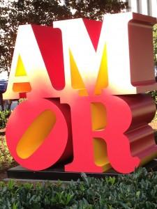 Robert Indiana AMOR sculpture
