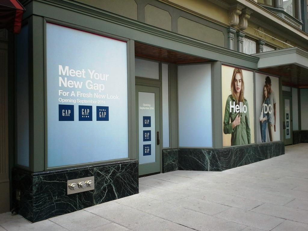 the gap 11th st nw washington dc downtown penn quarter