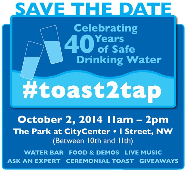 dcwater - toast to tap