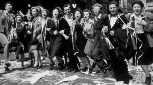 London celebrates VE Day, 1945 Photo: via BBC.co.uk