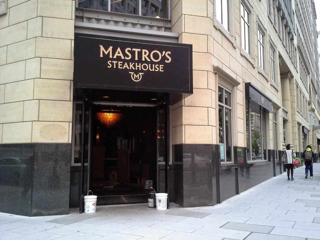 mastros steakhouse washington dc penn quarter