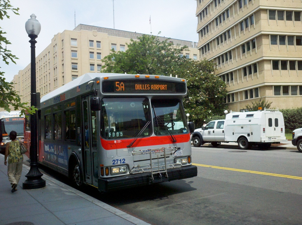 5a metrobus washington dc dulles airport downtown