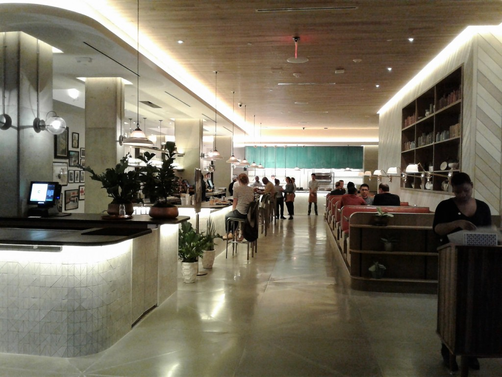 Crimson diner now open to public in pod hotel 627 h st nw for Diner interior
