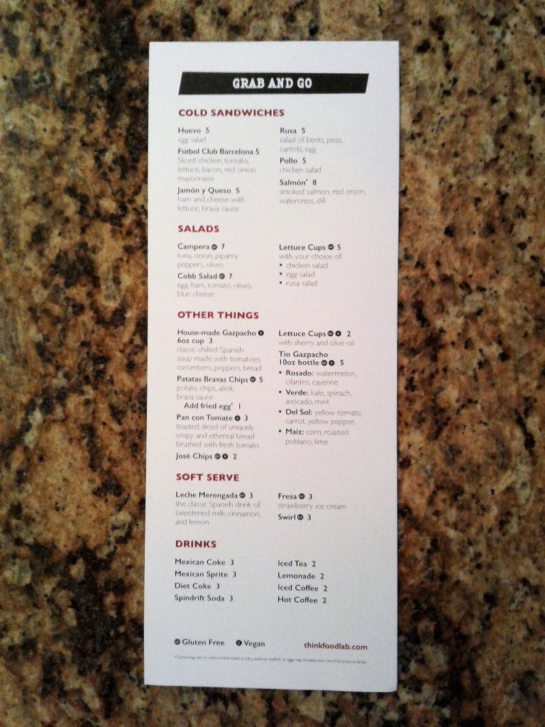 think food lab jose andres menu back restaurant washington dc 701 pennsylvania ave nw