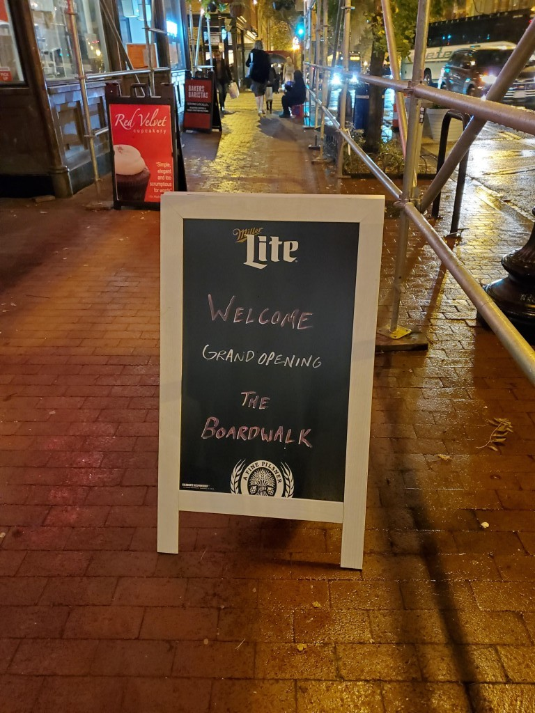 sandwich board boardwalk bar 7th street dc