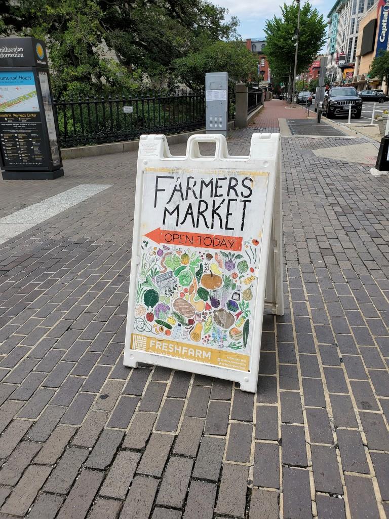 fresh farm market sign summer 2020 penn quarter downtown dc