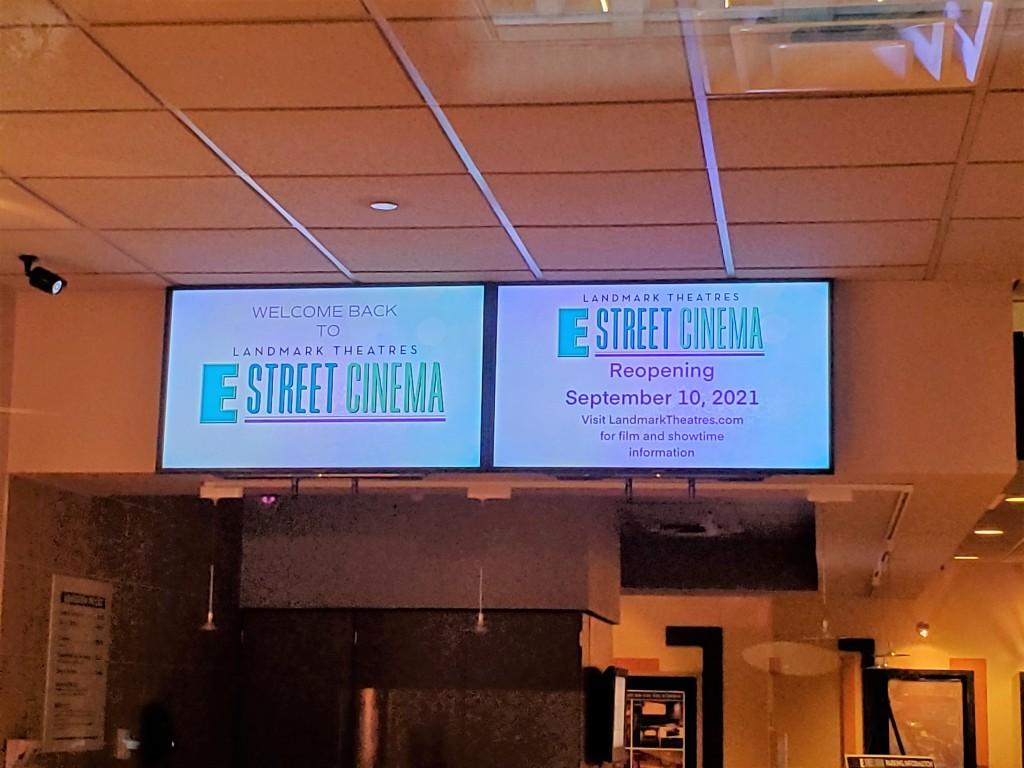 e street theatre washignton dc reopening sep 10 2021