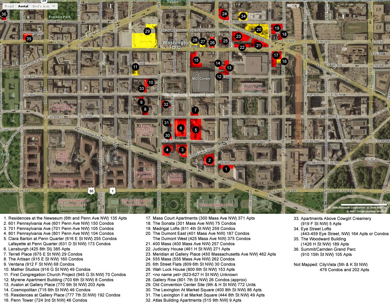 Gallery Place/Penn Quarter Residential Map *Updated July 2007 ...
